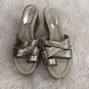 Donald J Pliner open toe wedge sandal